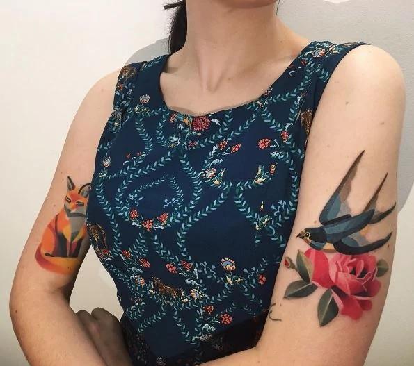 16 τατουάζ ζωγραφισμένα με νερομπογιές που δεν μπορούν να αφήσουν κανένα αδιάφορο