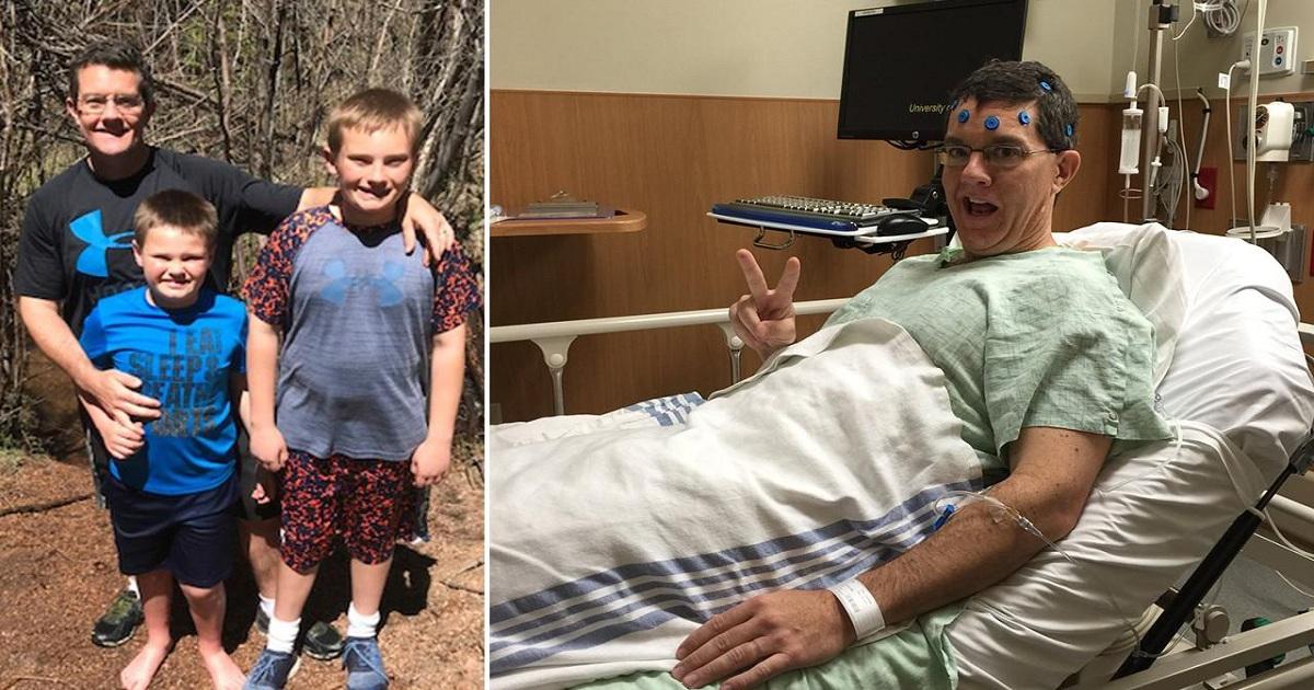 Πατέρας δυο παιδιών αφαίρεσε 98 καρκινικούς όγκους από τον εγκέφαλο αλλά δε χάνει την ελπίδα του και μένει δυνατός για τα παιδιά του – διαφορετικό