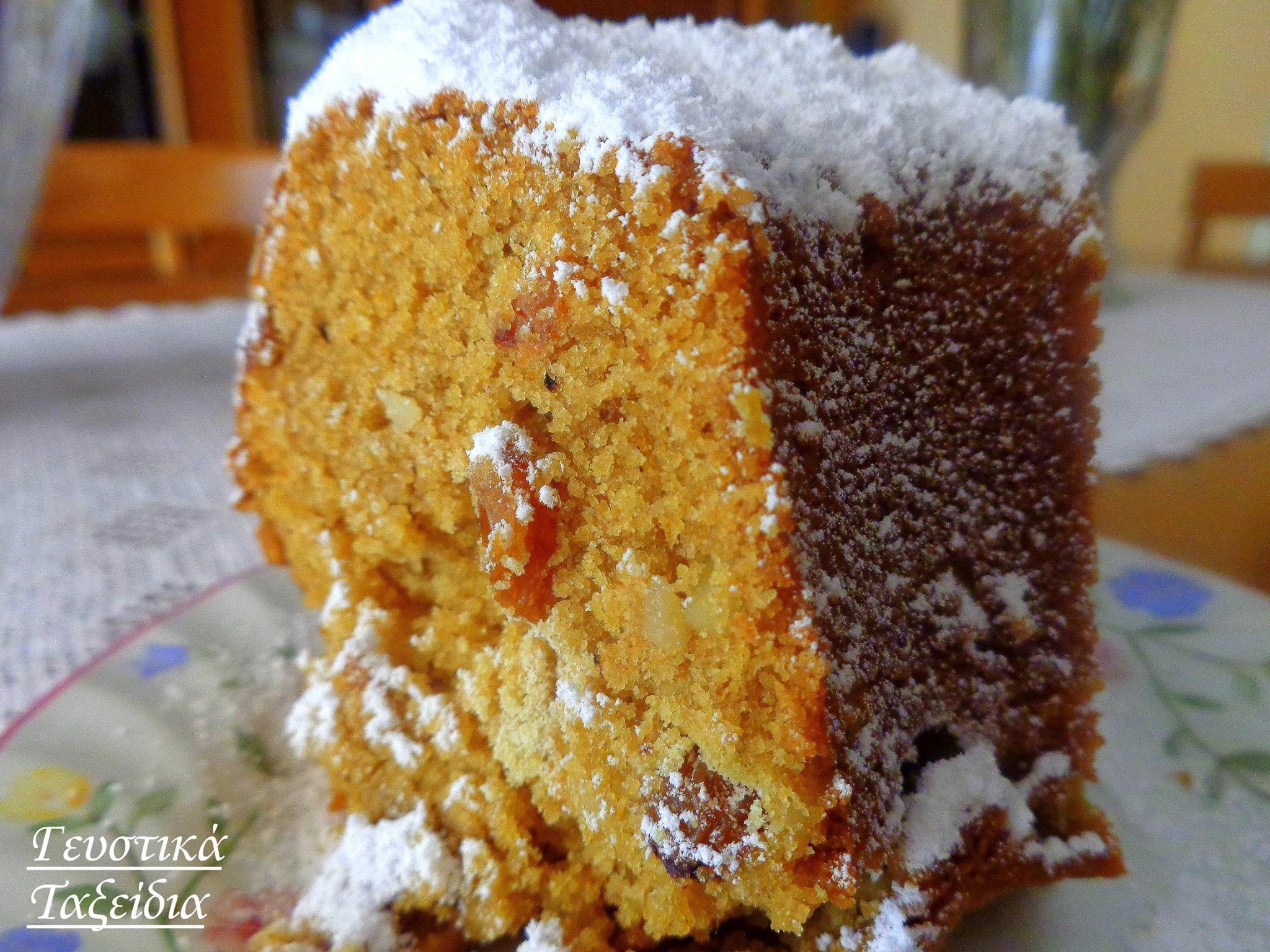 Κέικ νηστίσιμο με ελαιόλαδο