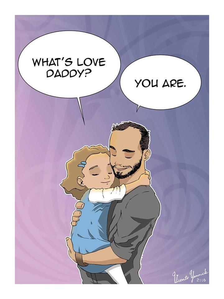 «Η ΑΓΑΠΗ είσαι ΕΣΥ»: Τα αισθήματα ενός μπαμπά μέσα απο μοναδικά σκίτσα