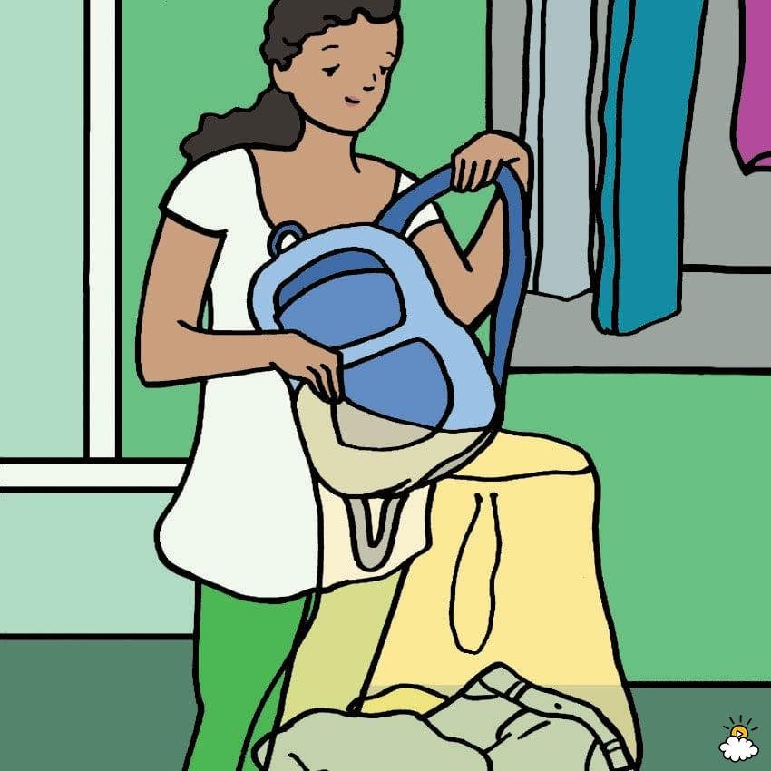 σχολική τσάντα - πλύσιμο στο πλυντήριο