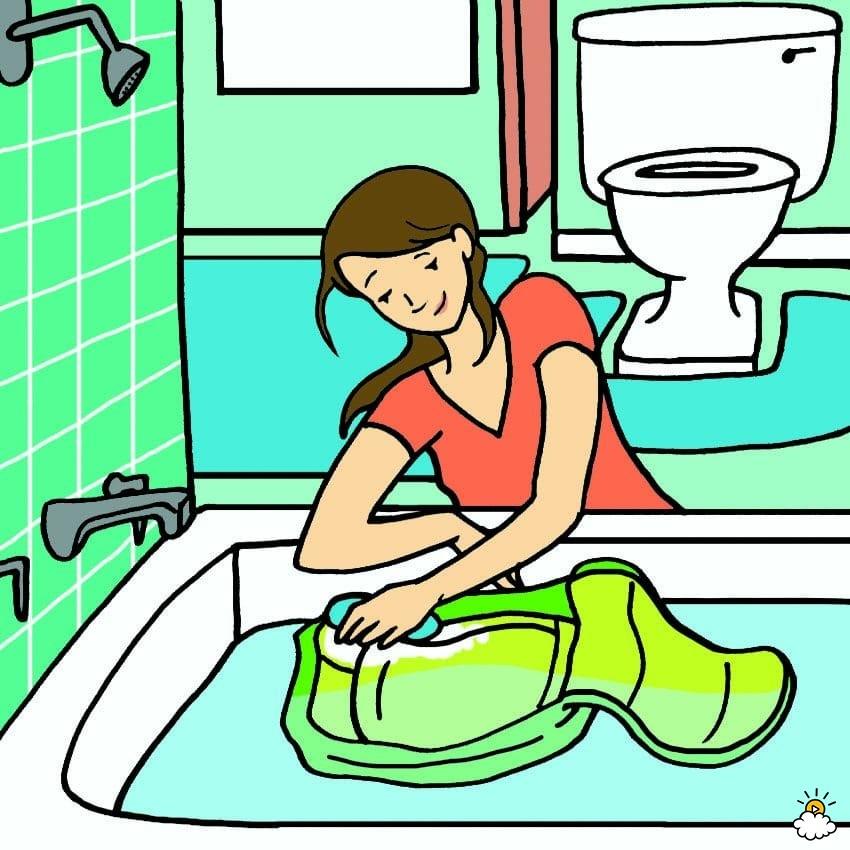σχολική τσάντα - πλύσιμο στο χέρι
