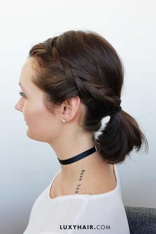 17 υπέροχες ιδέες για χαμηλή αλογοουρά σε κοντά μαλλιά!!