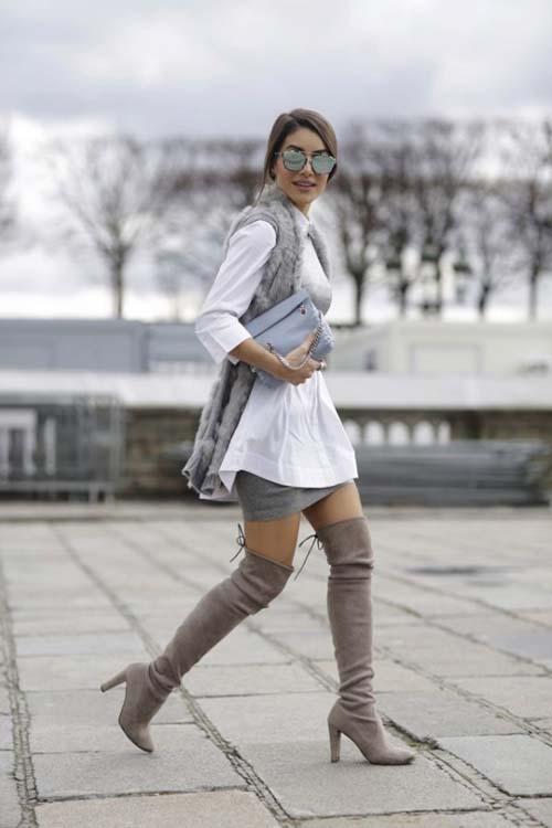 12 σύνολα με μπότες πάνω από το γόνατο που θα λατρέψετε!