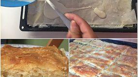 Ο Μαγικός χυλός !Kάντε μια πίτα με έτοιμο φύλλο, χρησιμοποιείστε τον και κάντε την να μοιάζει σαν να  ανοίχτηκε με το χέρι