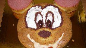 Αλμυρό κέικ (Μίκυ Μάους για παιδικό πάρτυ)