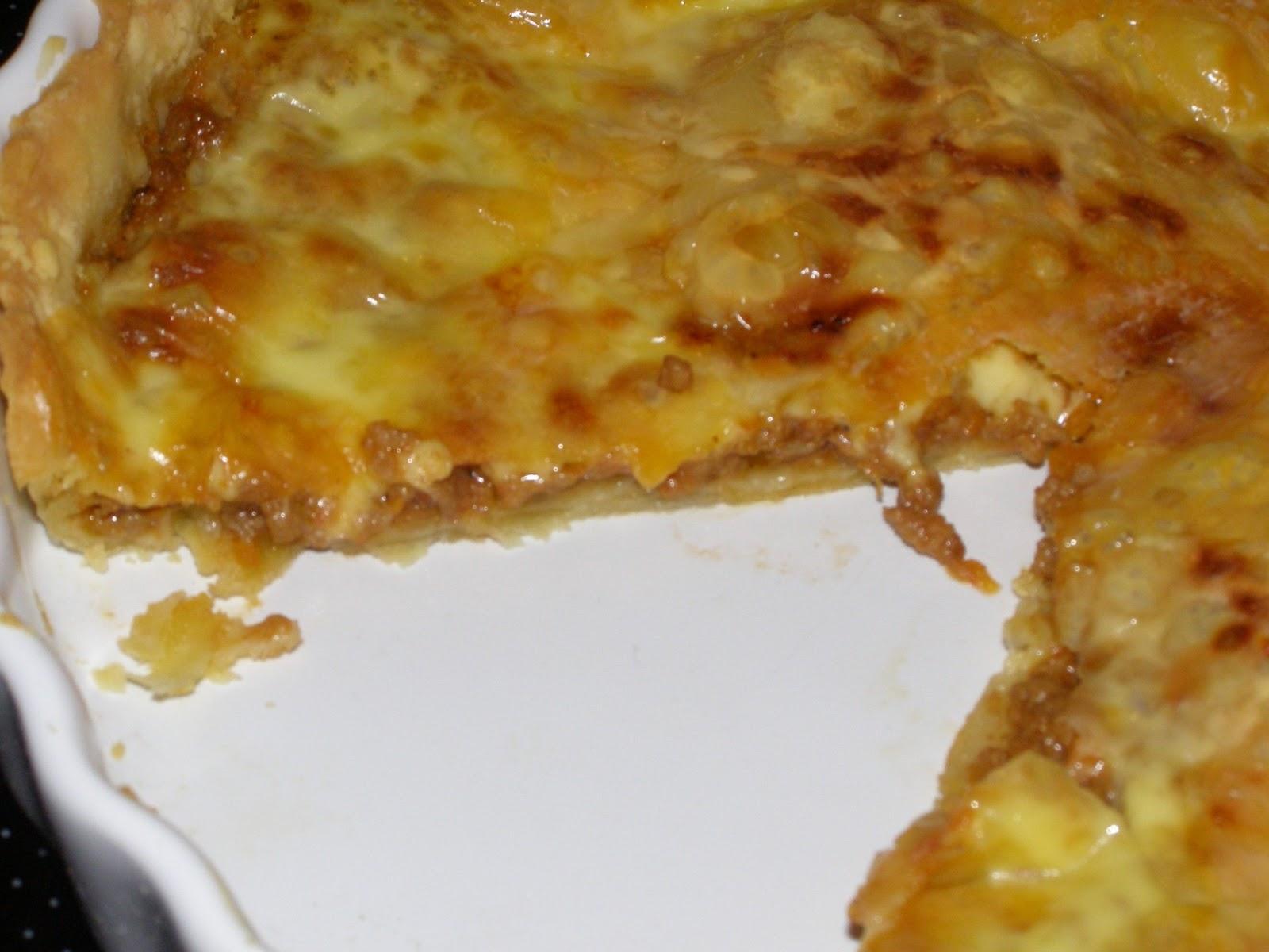 Τάρτα Cheeseburger (με κιμά και τυρί)