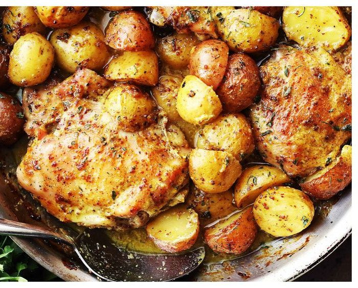 Κοτόπουλο στο φούρνο με μουστάρδα