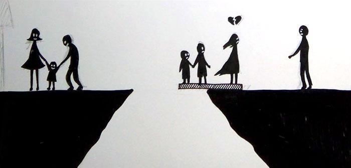 H περιγραφή ενός διαζυγίου σε 7 εικόνες