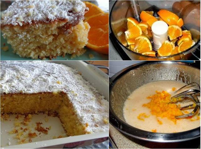 Κέικ με ολόκληρο πορτοκάλι Θεϊκό