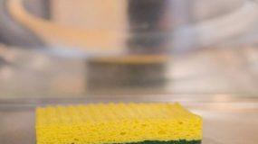 Το κόλπο για να απολυμάνετε το σφουγγαράκι για τα πιάτα σε τρία λεπτά!