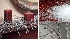 """Πώς να φτιάξετε """"Διαμαντένια"""" Χριστουγεννιάτικα Κλαδιά"""