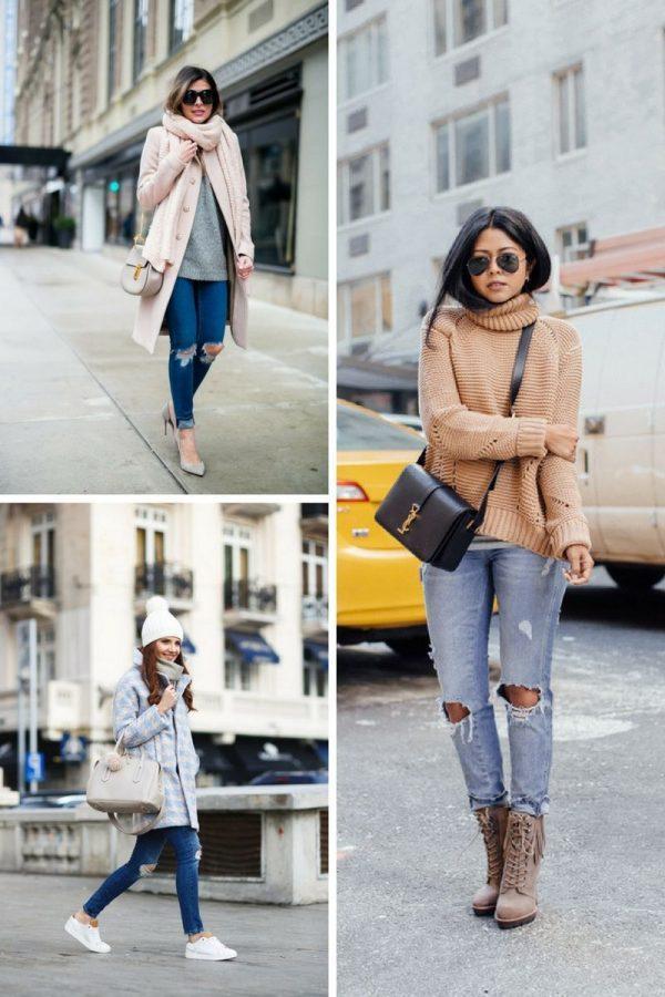 Πως να φορέσετε τα σκισμένα τζιν το χειμώνα;