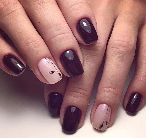Σκούρα νύχια: 40 υπέροχες προτάσεις