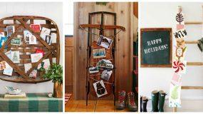 21 διαφορετικοί τρόποι για να διακοσμήσετε το σπίτι με Χριστουγεννιάτικες κάρτες