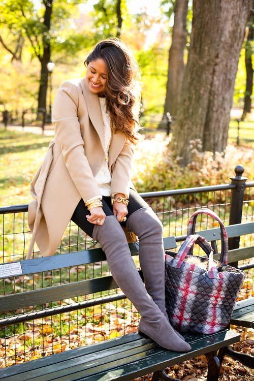 Υπέροχα σύνολα με φλατ μπότες για τις καθημερινές σας εμφανίσεις