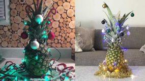 Η νέα τάση στα χριστουγεννιάτικα δέντρα είναι οι ανανάδες