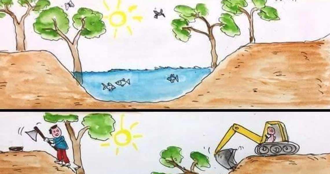 Ένα σκίτσο 10 ημέρες πριν εξηγεί τα πάντα για την θεομηνία