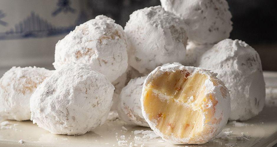 Τρουφάκια λευκής σοκολάτας με μανταρίνι του Ακη