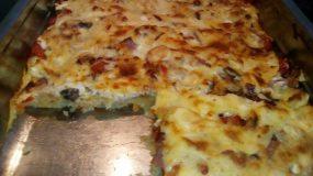 Πίτσα χωρίς ζυμάρι με πατάτα!!