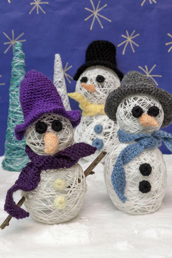 Φτιάχνουμε εντυπωσιακούς χιονανθρώπους από νήμα!
