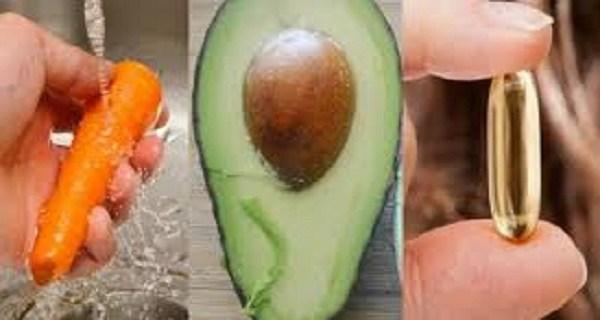 1 καρότο, 1 αβοκάντο και 1 κάψουλα βιταμίνης Ε αποτελούν το μαγικό συνδυασμό.. Δείτε γιατί...