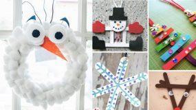 16 εύκολες χριστουγεννιάτικες χειροτεχνίες για τα παιδιά σας
