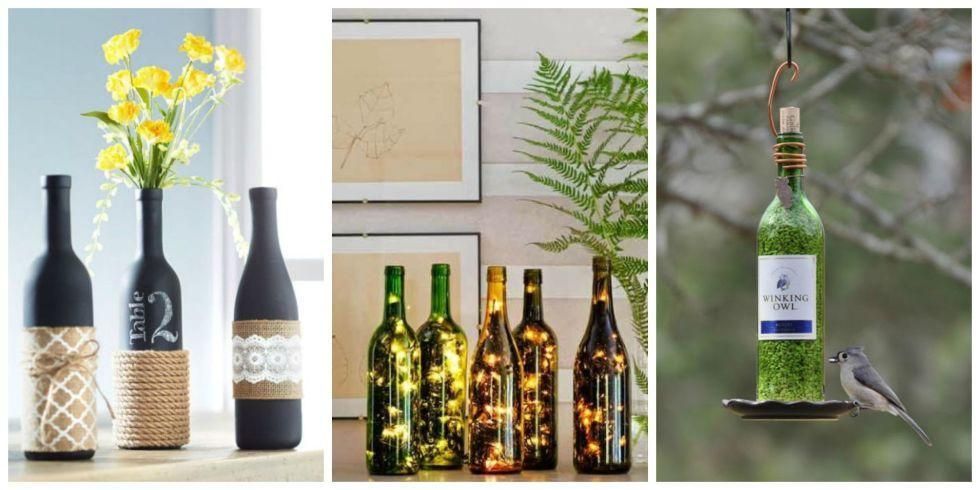 24 DIY για να χρησιμοποιήσετε με ένα δημιουργικό τρόπο τα άδεια μπουκάλια κρασιού