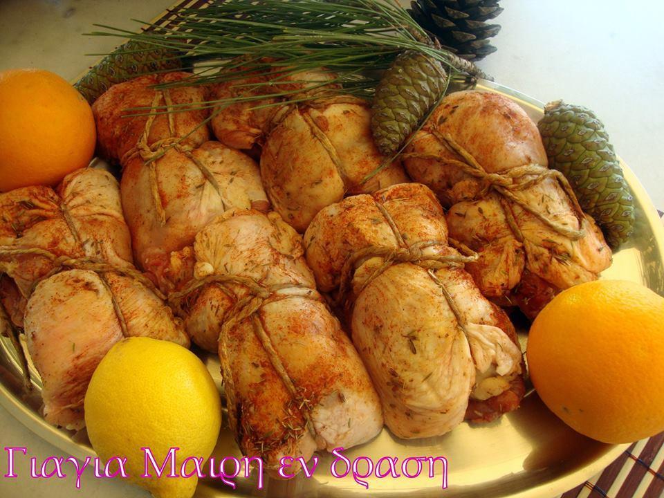 Μπουτάκια κοτόπουλο δεματάκια