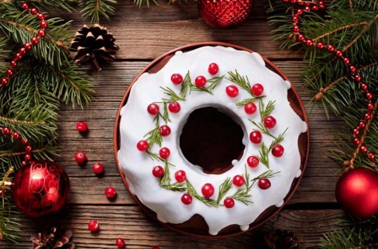 Κέικ σοκολάτας χριστουγεννιάτικο με γλάσο