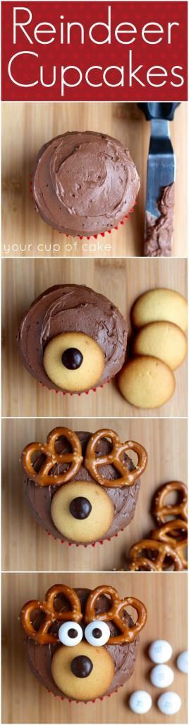 Υπέροχα cupcakes τάρανδοι για να σας μείνουν αυτές οι γιορτές αξέχαστες!