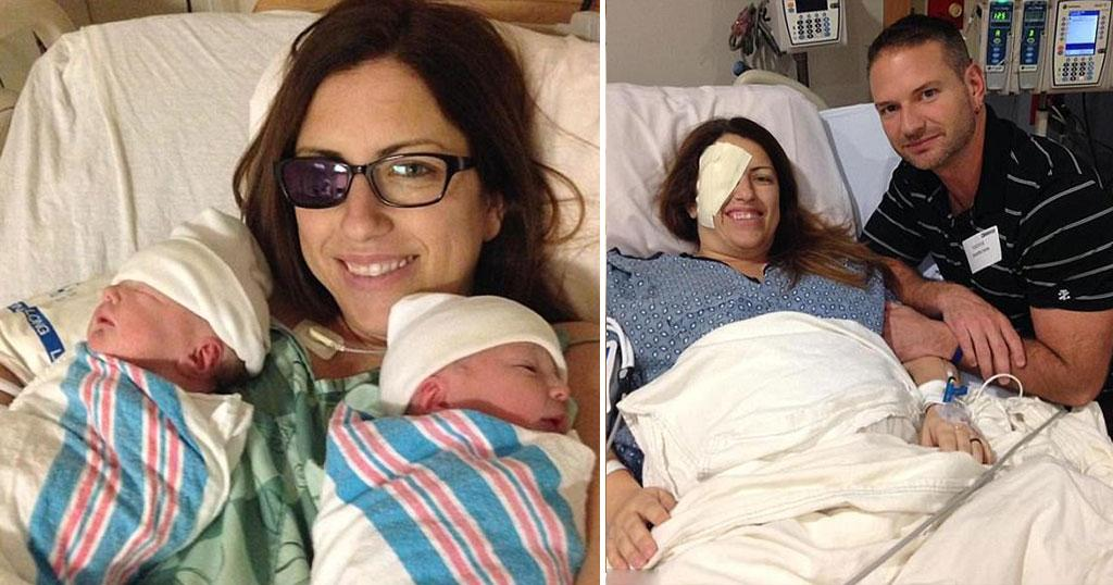 Μητέρα αφαίρεσε το μάτι της για να σώσει τα δίδυμα μωρά της