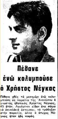 Το άδοξο τέλος του ηθοποιού Χρήστου Νέγκα που συγκλόνισε την κοινή γνώμη – Η Αθηναΐς Νέγκα είναι η κόρη του
