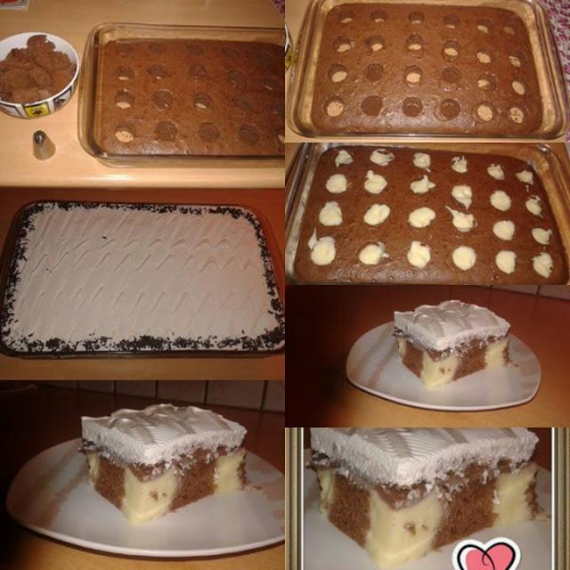 Λαχταριστό σοκολατένιο κέικ με πουτίγκα που θα σας ενθουσιάσει!