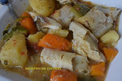 Μπακαλιάρος με λαχανικά !!!Υγιεινό φαγάκι ,ελαφρύ και πολύ νόστιμο