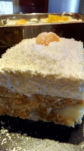 Γρήγορη τούρτα με μπισκότο και ινδοκάρυδο! Απλά αφρός!