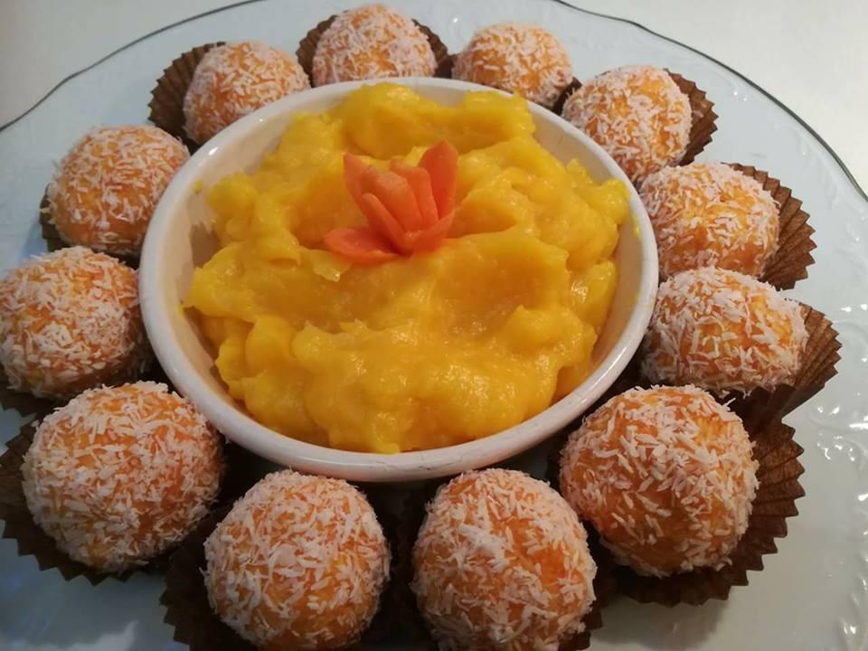 Τρουφάκια καρότου και κρέμα καρότου με μόνο 4 υλικά. ΔΥΟ πεντανόστιμα και πανεύκολα γλυκάκια φουλ στο πορτοκαλί.