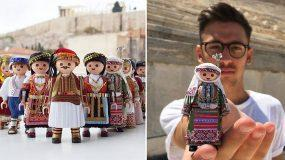 21χρονος Έλληνας ντύνει φιγούρες Playmobil με παραδοσιακές ελληνικές φορεσιές με υλικά και εργαλεία που έχει σπίτι του!