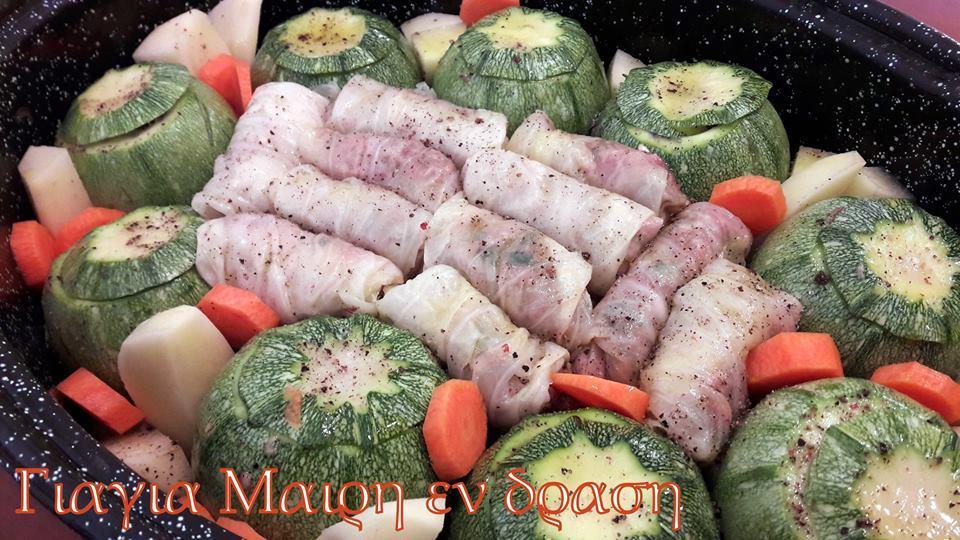 Διαφορετικά Κολοκυθάκια γεμιστά με λαχανοντολμάδες