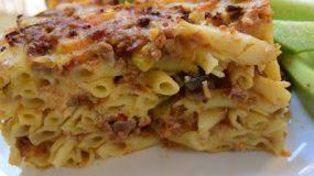 Μακαρόνια με διάφορα λαχανικά & κιμά στο φούρνο !!! Απερίγραπτη η γεύση του !!!