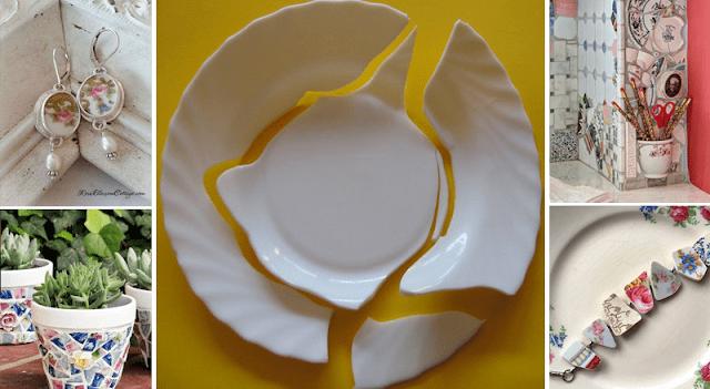Πώς να ανακυκλώσετε τα σπασμένα πιάτα με έναν πρωτότυπο τρόπο. 15 μοναδικές ιδέες που θα σας εντυπωσιάσουν!