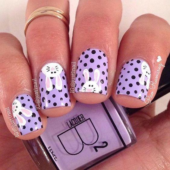 Υπέροχες ιδέες για χαριτωμένα πασχαλινά σχέδια νυχιών!