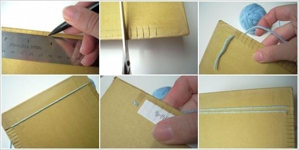 Με ένα χαρτόνι και ένα πιρούνι μπορείτε να φτιάξετε φανταστικά χαλάκια!