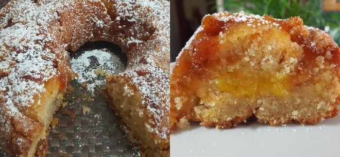 Αφράτο κέικ με μαρμελάδα Ροδάκινο (Νηστίσιμο)