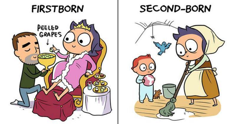 Αυτά τα 16 σκίτσα για τις διαφορές 1ου και 2ου παιδιού θα μιλήσουν στην καρδιά κάθε μανούλας!