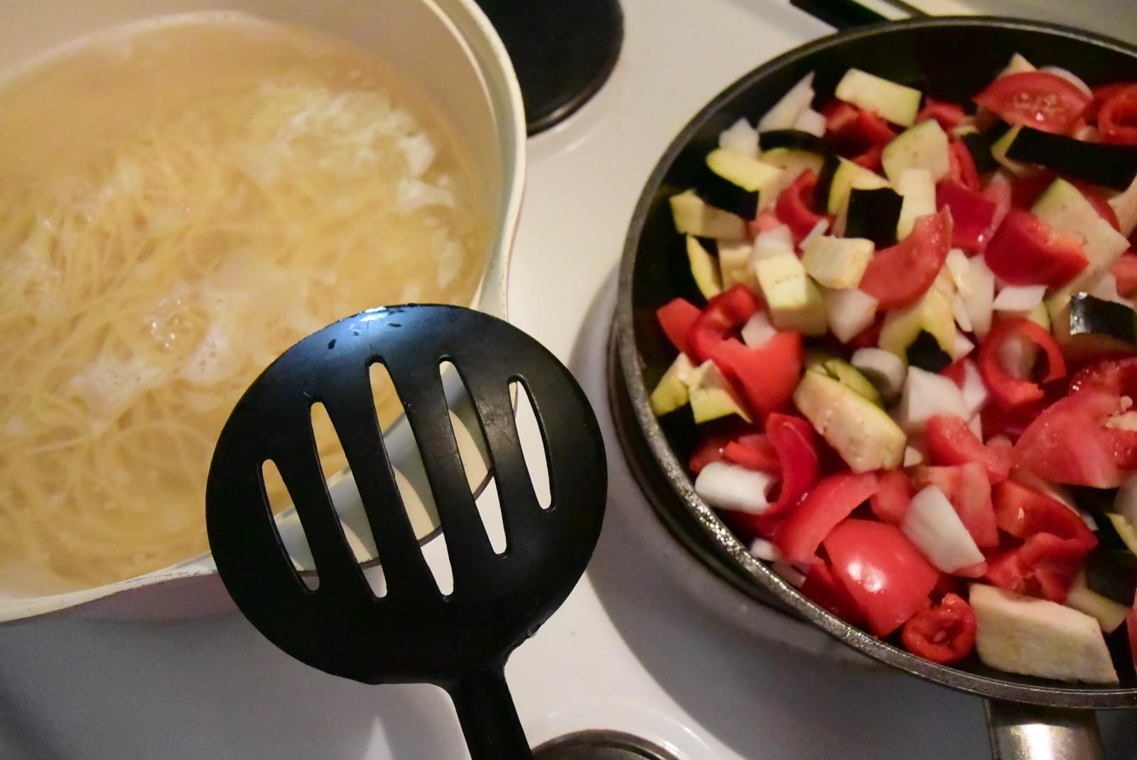 Συνταγή για λαχταριστά μακαρόνια με λαχανικά