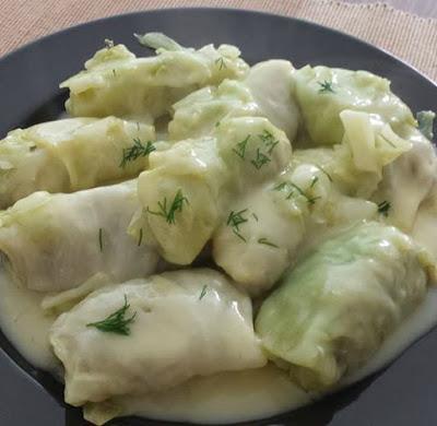 Λαχανοντολμάδες με φανταστική σάλτσα!!