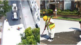 Λος Άντζελες: Βάφουν τους δρόμους με λευκό χρώμα για να καταπολεμήσουν τις υψηλές θερμοκρασίες στην πόλη