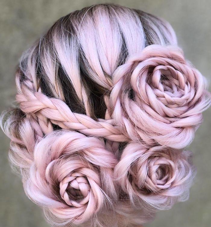 Η νέα τάση στα μαλλιά που συναρπάζει!! Πλεξούδες που μοιάζουν με τριαντάφυλλα [εικόνες]