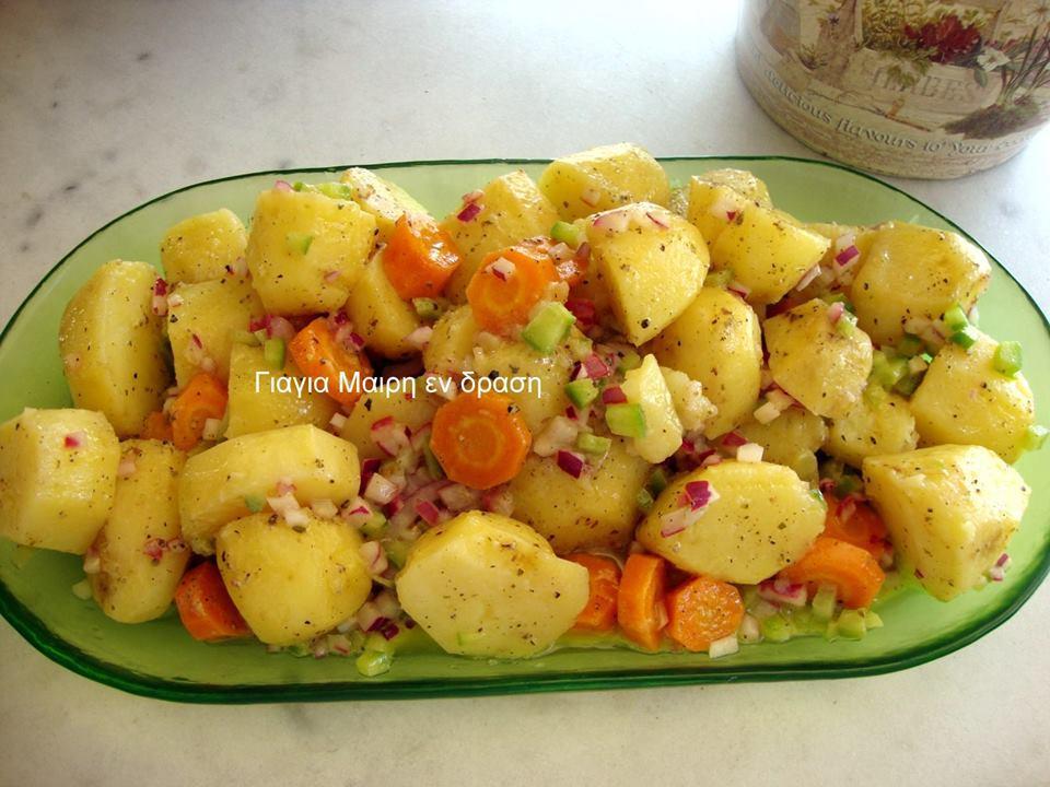 Πατατοσαλάτα by Mairh! Μια συνταγή για όσους χρησιμοποιούν το Φούρνο Μικροκυμάτων